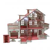 Ігровий набір Ляльковий будинок великий 85х35х55 см з гаражем з підсвіткою