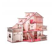 Ігровий набір Ляльковий будинок 57х27х35 см з гаражем з підсвіткою