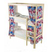Двоярусне ліжко з каркасом для штор